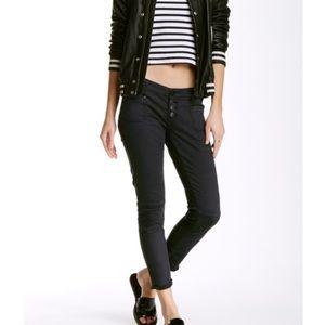 One teaspoon black super duper skinny cropped jean